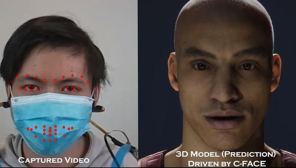 C-Face, los auriculares capaces de detectar las expresiones faciales incluso con mascarilla. (Captura de pantalla)