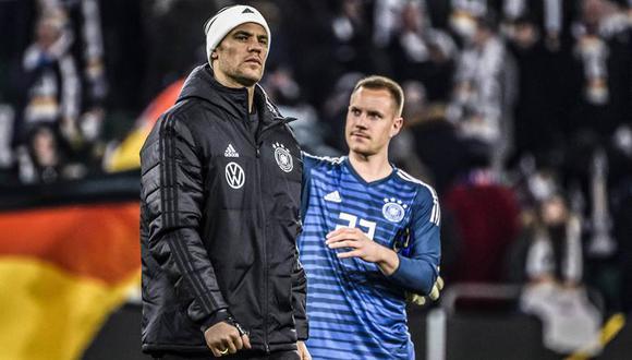 Manuel Neuer, suplente; Marc-André Ter Stegen, titular. (Foto: AP)