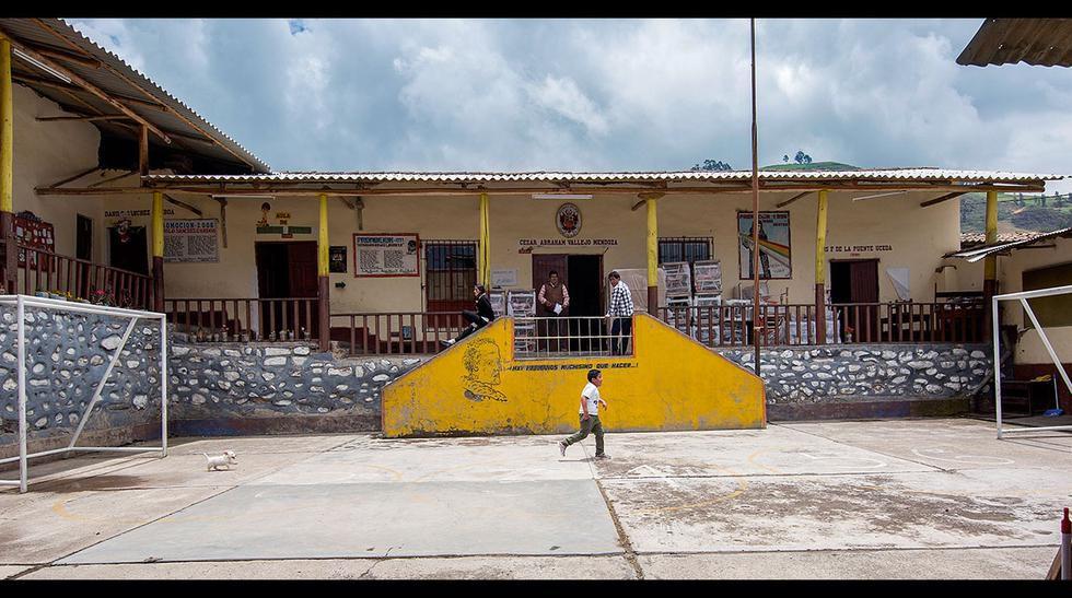 El colegio primario de Vallejo en Santiago de Chuco fue una inspiración para su clásico cuento Paco Yunque (Foto: Fidel Carrillo).