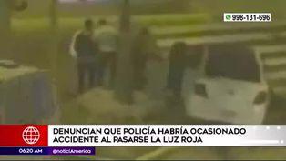 Centro de Lima: acusan a policía de ocasionar accidente