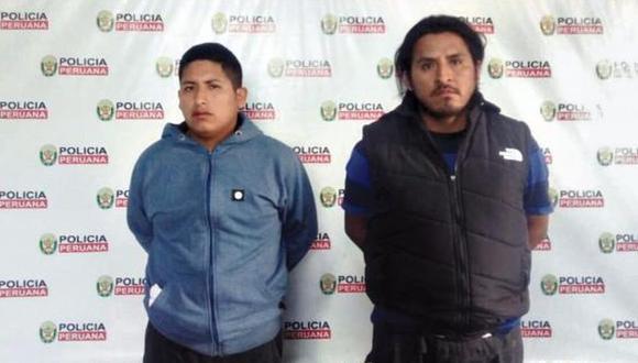 Horas después de lo ocurrido, agentes de la comisaría de Manchay capturaron a dos sospechosos. Se trata de Lionel Macedo Navarro (34) y Bryan Hinostroza Macedo (21). (USI)