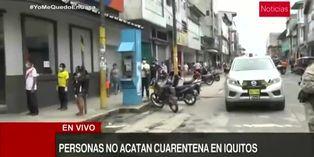 Coronavirus en Perú: no se acata la cuarentena en Iquitos
