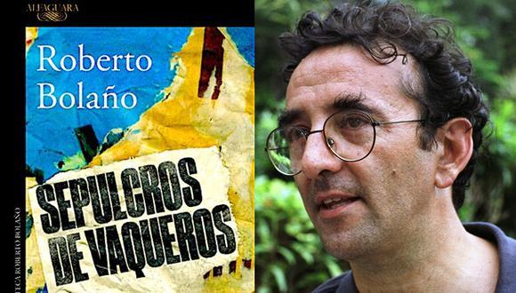 La portada del nuevo libro de Roberto Bolaño. A la derecha, el autor.