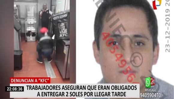 Tres ex trabajadores de KFC presentaron una denuncia formal a la Superintendencia Nacional de Fiscalización Laboral (Sunafil). (Foto captura: Panamericana)