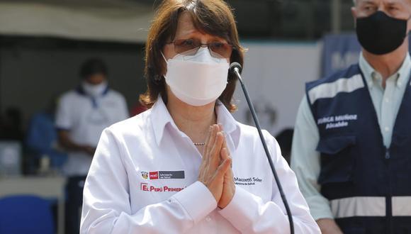 Pilar Mazzetti señaló que su decisión de vacunarse estuvo motivada por el elevado número de funcionarios de su sector infectados con el coronavirus | Foto: El Comercio / Archivo