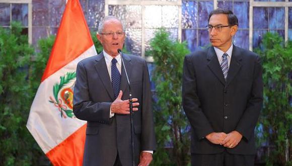 """""""El Perú es más grande que sus problemas"""", también señaló Martín Vizcarra en medio de la crisis política por la situación de PPK. (Foto: Archivo El Comercio)"""