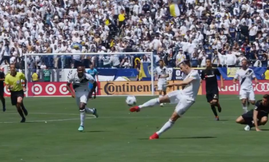 Facebook: Ibrahimovic y el video de su golazo con el LA Galaxy desde otro ángulo. (Foto: Captura video)