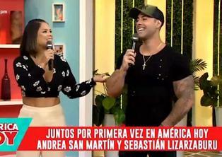 Andrea San Martín y Sebastián Lizarzaburu juntos en televisión después de años de peleas