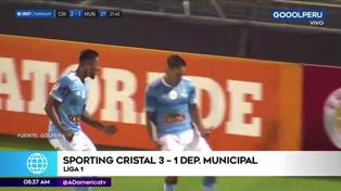 Sporting Cristal y su contundente victoria ante Deportivo Municipal