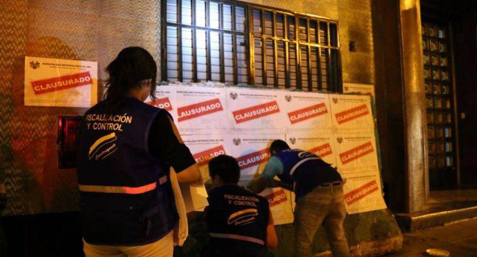 Municipalidad de Lima cerró prostíbulo en Av. Tacna - 1