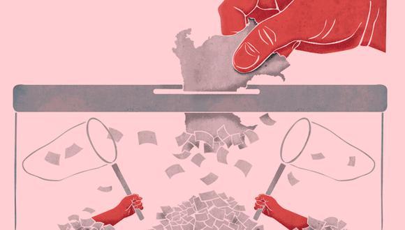 Pedro Castillo y Keiko Fujimor solo suman un tercio de la votación válida y apenas el 18% del electorado nacional.(Imagen: El Comercio)