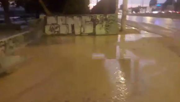 Río Rímac se desbordó a la altura de la autopista Ramiro Prialé