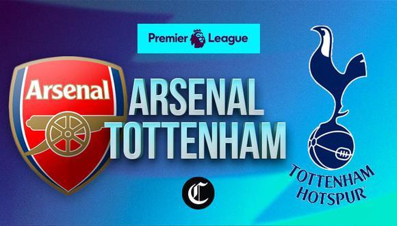 Arsenal vs. Tottenham se enfrentan en el Clásico de Londres por Premier League.   Foto: Diseño EC