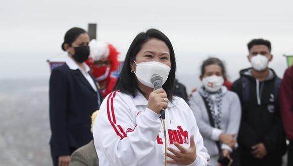 Keiko Fujimori ha sido acusada por lavado de activos tras investigación a campañas 2011 y 2016. (Foto: Hugo Perez /@photo.gec)