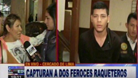 Cercado: capturan a raqueteros que asaltaban en Av. 28 de Julio