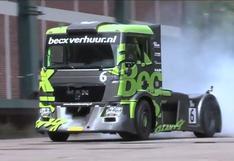 Drifting: Un camión al más puro estilo de la Gymkhana de Ken Block