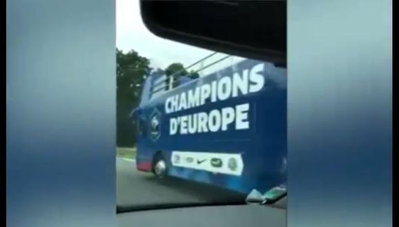 Eurocopa 2016: Francia tenía bus pero no pudo festejar [VIDEO]