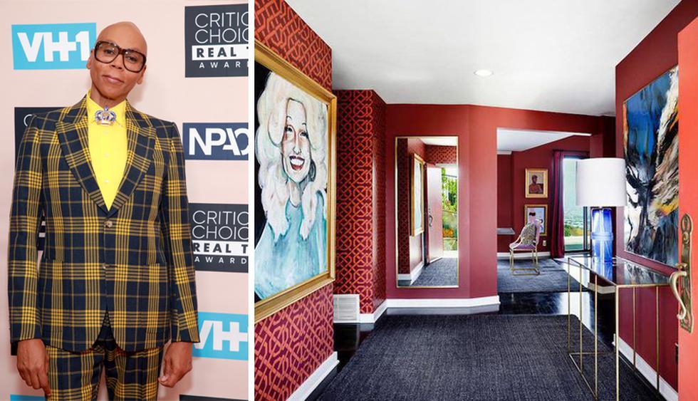 """La """"extravagancia de elegancia"""" comienza en el vestíbulo, con un retrato enmarcado de Dolly Parton que te saluda en la puerta. (Foto: The MLS)"""