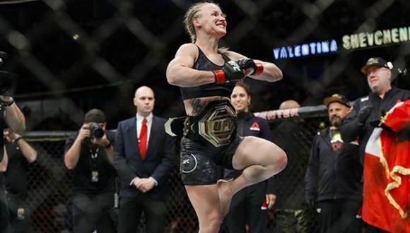 Valentina Shevchenko, campeona de peso mosca femenino. (UFC)