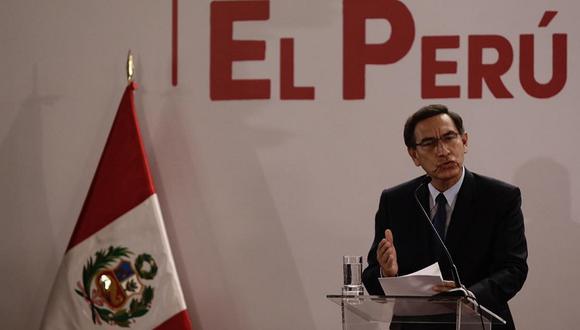 Martín Vizcarra reiteró el compromiso de su gobierno en la lucha contra la violencia a la mujer. (Foto: GEC)