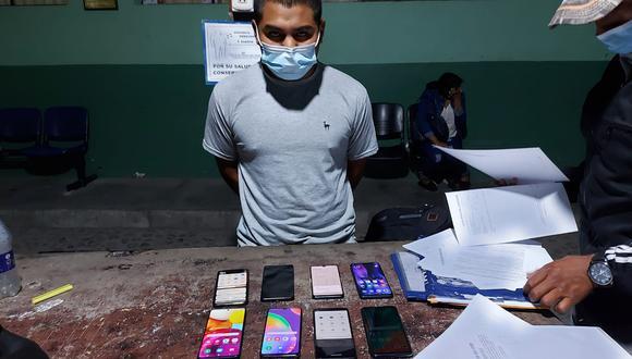 Arequipa: intervienen a hombre con celulares reportados como robados (Foto: PNP)