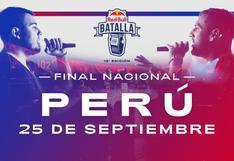 En vivo, Final Nacional Red Bull Perú: horarios, finalistas y dónde ver gratis de la Batalla 2021