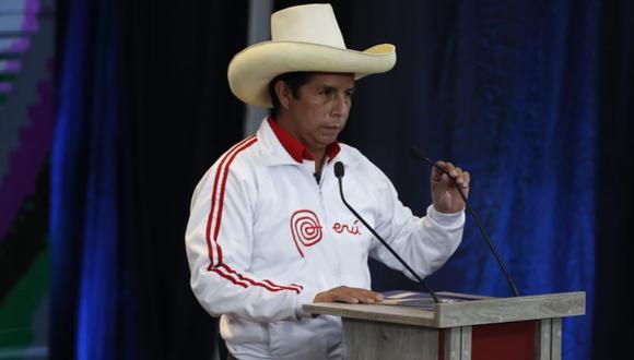 Pedro Castillo, candidato de Perú Libre, dio a conocer sus propuestas en material de salud y manejo de la pandemia durante el debate presidencial en Arequipa | Foto: Hugo Pérez / @photo.gec