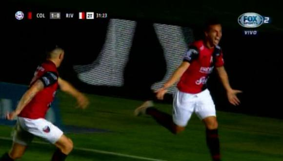 Gonzalo Bueno aprovechó un rebote para anotar el 1-0 | Foto: captura
