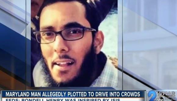 Rondell Henry, el hombre que planeaba un atentado al estilo yihadista en Estados Unidos. Foto: Captura de video