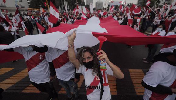 Expertos indicaron que durante manifestaciones no se respetan debidamente las medidas de bioseguridad para evitar contagios. (Foto: Leandro Britto / @photo.gec)