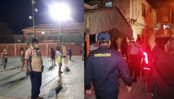 Agentes de la Policía Nacional intervinieron dos inmuebles en Piura. (Foto: Municipalidad de Talara)