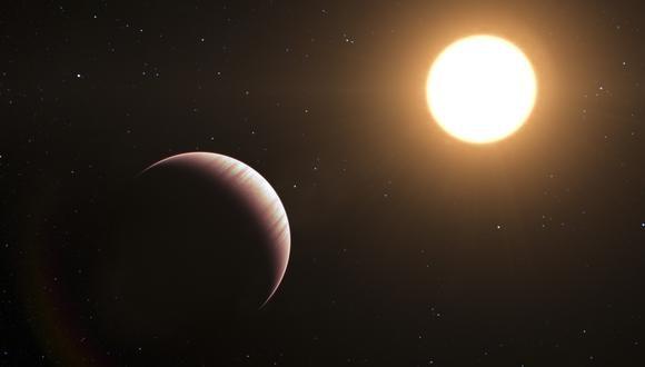 Ilustración del exoplaneta Tau Bootis b, descubierto en 1996. (L. Calada / EUROPEAN SOUTHERN OBSERVATORY / AFP)