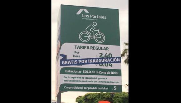 Los Portales suspendió cobro de parqueos por bicicletas