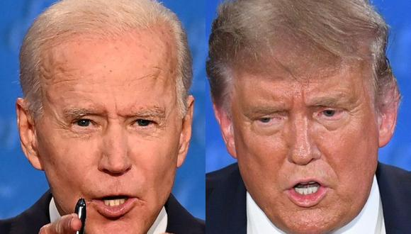 Donald Trump y Joe Biden protagonizaron un feroz debate en Cleveland, Ohio. (Fotos: JIM WATSON y SAUL LOEB / AFP).