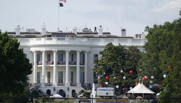 Preparativos en la Casa Blanca para la celebración del Día de la Independencia de Estados Unidos este 4 de julio. (Foto: AP / Patrick Semansky).