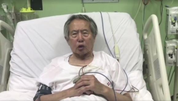 Alberto Fujimori recibió el indulto y el derecho de gracia por razones humanitarias el pasado 24 de diciembre. (Captura)