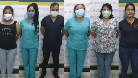 San Martín. Detienen a jefa de centro de salud junto a médicos, obstetras, enfermeras en una fiesta. (PNP)