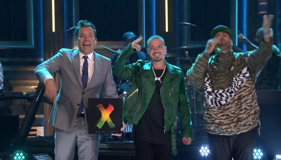 Jimmy Fallon, J Balvin y Nicky Jam. (Foto: YouTube)