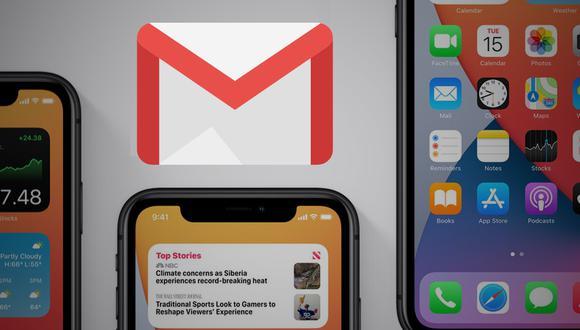 Puedes configurar como correo predeterminado tanto a Gmail como a Outlook en los dispositivos con IOS14. (Composición: El Comercio)