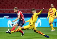 Barcelona perdió 1-0 en su visita a Atlético de Madrid por LaLiga Santander
