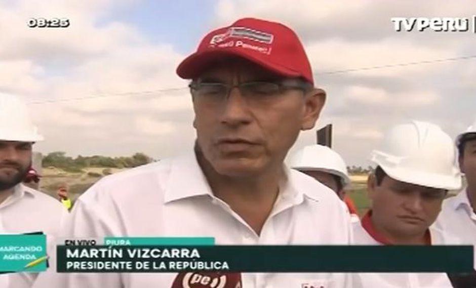 Martín Vizcarra espera que se revoque prisión preventiva contra el policía Elvis Miranda. (Foto: Captura TV Perú)