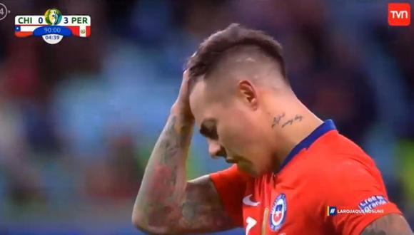 Pedro Gallese atajó el penal de Eduardo Vargas durante el Perú vs. Chile por semifinales de la Copa América. Narradores chilenos se lamentaron. (Video: TVN)
