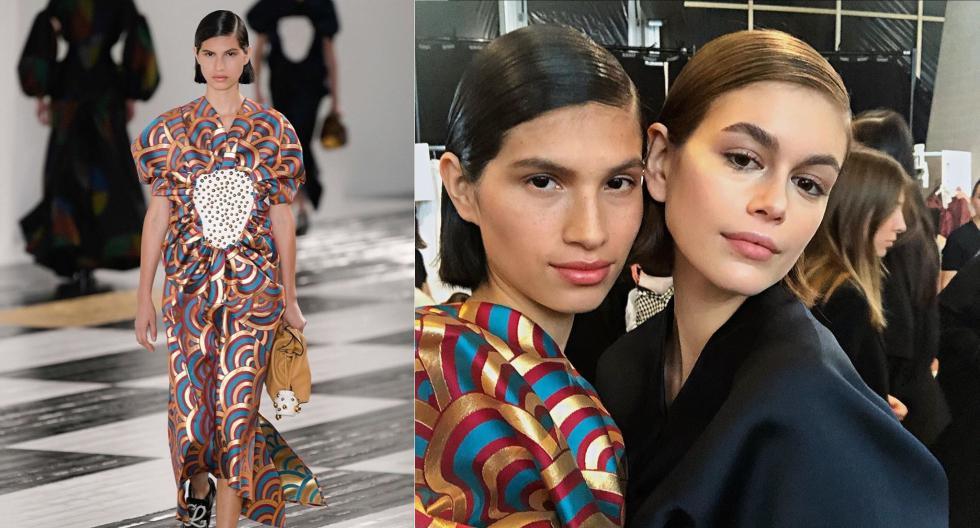Patricia del Valle compartió pasarela junto a la modelo Kaia Gerber en el fashion show de la firma Loewe. Su debut está dando la vuelta al mundo. (Fotos: IG/ @patricia_delvalle)