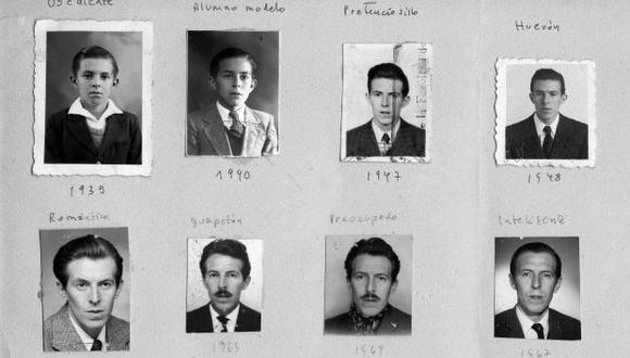 Collage de fotos hecho por el propio Ribeyro, exhibido en el 2014 en la Casa de la Literatura. (Archivo familiar)