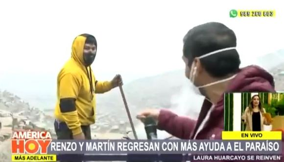 """Renzo Schuller recluta a poblador de """"El Paraíso""""  (Foto: captura)"""