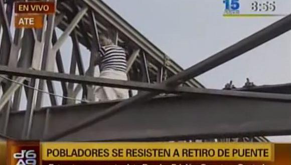 Instalarán puente provisional para unir Ate y Huachipa