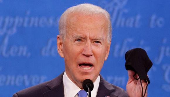 El candidato presidencial demócrata Joe Biden habla durante el debate final de la campaña presidencial estadounidense de 2020 en el Curb Event Center de la Universidad de Belmont en Nashville, Tennessee, EE. UU. (Foto: REUTERS / Jonathan Ernst).