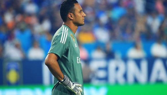 El golero costarricense Keylor Navas no tuvo la mejor reacción en el arco del Real Madrid y permitió el empate parcial de Real Sociedad. (Foto: AFP)