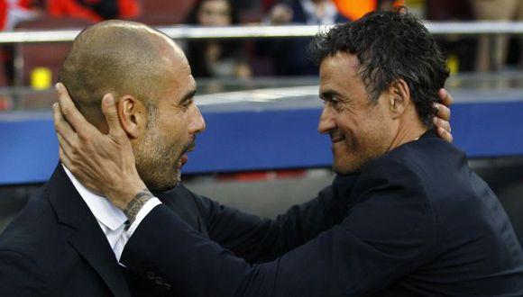 Luis Enrique habló sobre Guardiola tras vencerlo en Champions