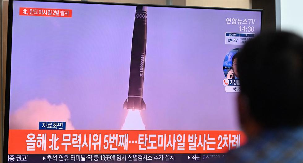 North Korea fires two ballistic missiles and Seoul responds by launching another from a submarine